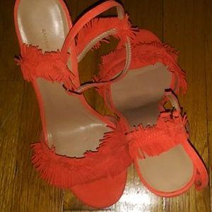 Orange shoes, with fringed from Banana Republic